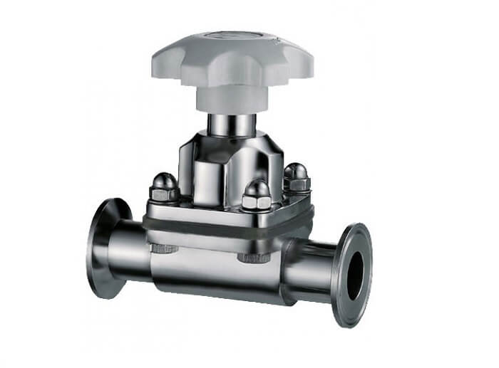 Manual sanitary diaphragm valve two way and multiport weld clamp ccuart Gallery